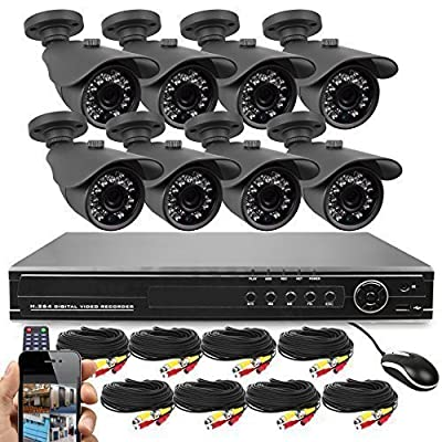 Best Vision 4-in-1 HD DVR Security Camera System (1TB HDD), High Definition Outdoor Cameras with Night Vision - DIY Kit, App for Smartphone Remote Monitoring by Best Vision Systems