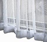 洗濯 丸洗い OK シンプル ミラー レースカーテン ホワイト 2枚 セット 幅100cm×丈176cm 幅100cm×丈133cm 幅200cm×丈176cm 大きい サイズ から 小さい サイズまで (ホワイトレース 100cm(幅)×133cm(高さ)×2個セット)