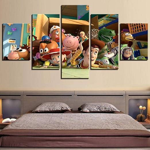 EUFJHS Imprimir En Lienzo HD Impreso 5 Piezas Toy Story ...