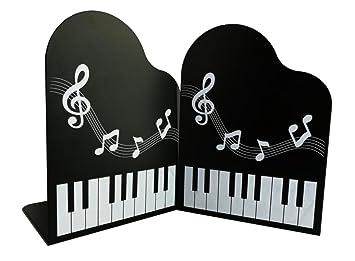 Adorable forme de piano avec melody métal serre livres serre