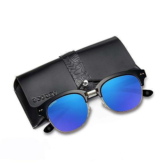 vegoos - Gafas de sol redondas polarizadas para mujer con ...