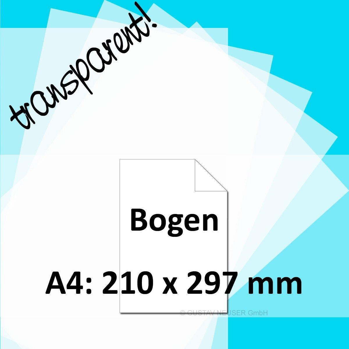 /Feuilles DIN A4/100/g//m/²/ Artoz Perga Pastel/ /Papier transparent/ 25 Papierbogen mit Box Blanc /Livr/ée dans original Artoz Pure Box /Blanc/