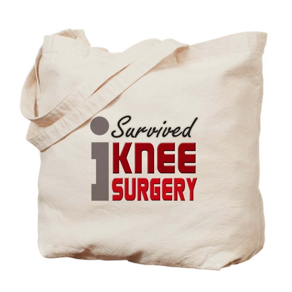 CafePress – I Survived膝手術 – ナチュラルキャンバストートバッグ、布ショッピングバッグ B00O146C8K MM