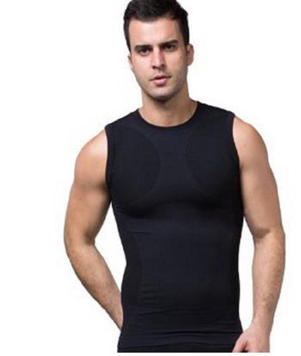 Amazon com: Men Outdoor Sport Body shaper Sleeveless Slim