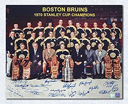 best sneakers 86f8c bc014 1970 Boston Bruins Team Signed Stanley Cup 16x20 Photo - 16 ...
