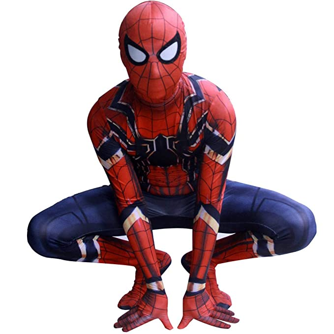 KOUYNHK Carnival Party Iron Spiderman Costume Spandex ...