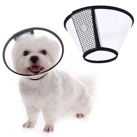 Ducomi Elizabethan - Collar Protector Ajustable para Perros y Gatos - Cono Anti-Mordeduras -