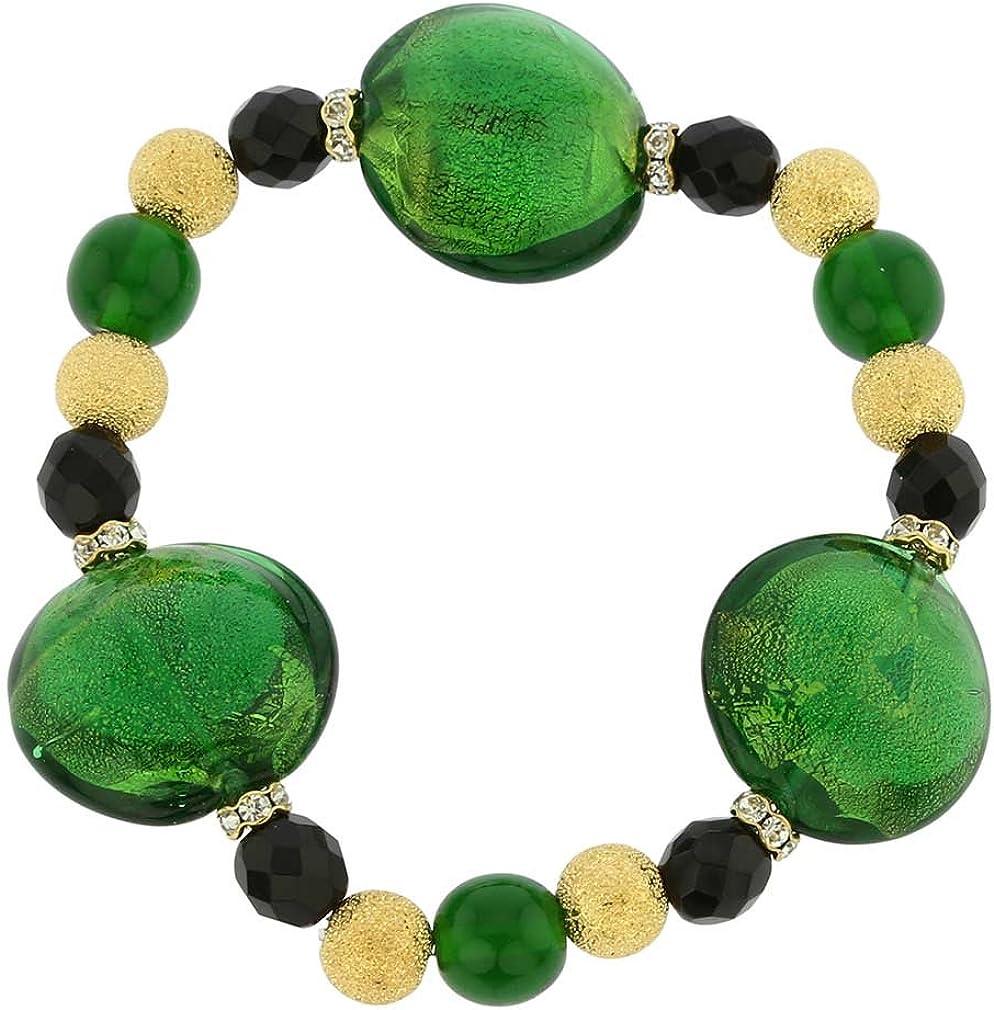 glassofvenice Magic de cristal de Murano pulsera–verde esmeralda