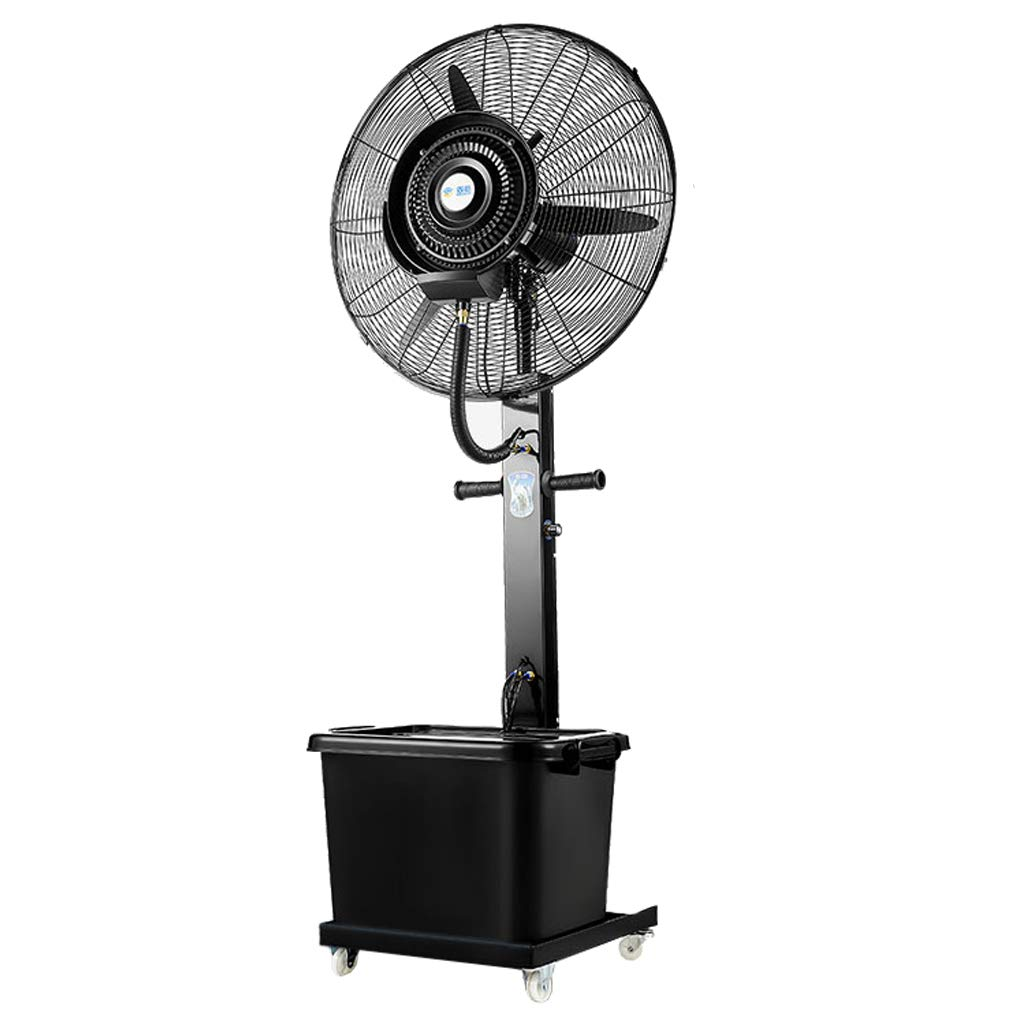 Standing Pedestal Fan Pedestal Fan, Silent Oscillating Cooling Misting Spray Large for Outdoor Industry Business Humidifier 3-Speed/40L Water Tank /190W/ Height 180cm by LLZ-Fan