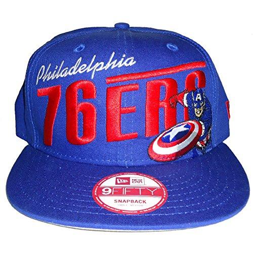 "New Era Philadelphia 76ers NBA Marvel Captain America 9Fifty Snapback Cap ""Team Hero"""