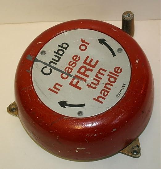 Vintage industrial alarmas de incendio de manivela bell con ...