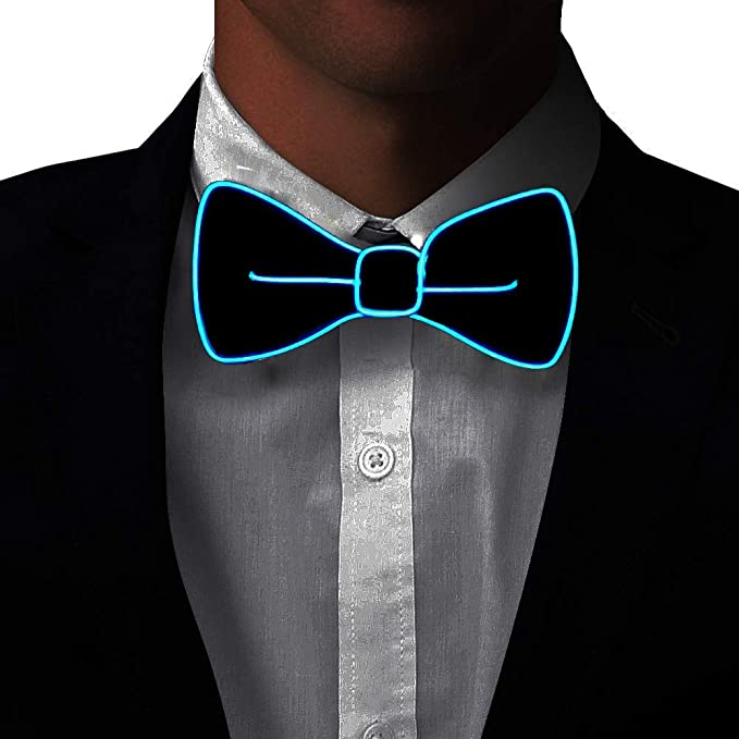 efb7e8311a98 Light Up BowTie Costume Accessory LED Bow Tie Perfect for Halloween Party  Christmas New Years Rave