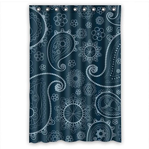 MaSoyy Polyester Bathroom Curtains Of Paisley For Girls Artwork Her Father Him. Durable Width X Height / 48 X 72 Inches / W H 120 By 180 Cm(fabric) (Durable Tropical Rug)