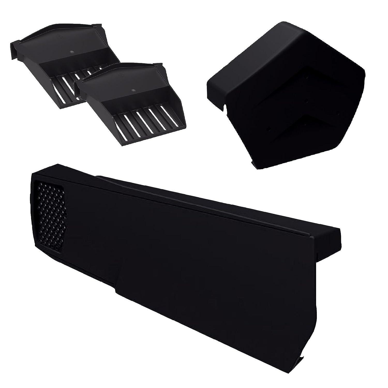 8 x Universal Grey Dry Verge Units Angled Ridge Cap /& 2 x Starter Closure Kits