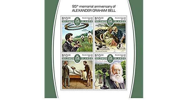 Amazon.com: Solomon Islands - 2017 Alexander Graham Bell - 4 Stamp Sheet SLM17522a: Toys & Games
