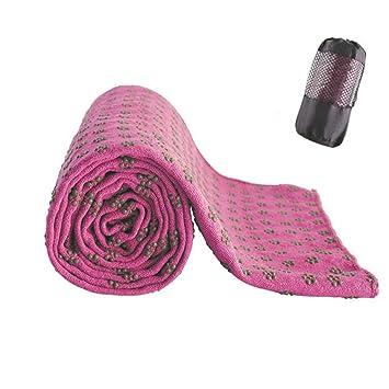 CJOY Estera de Yoga Toalla, Antideslizante para Hot Yoga con ...