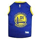 Pets First NBA Golden State Warriors Basketball Pet Jersey, Large