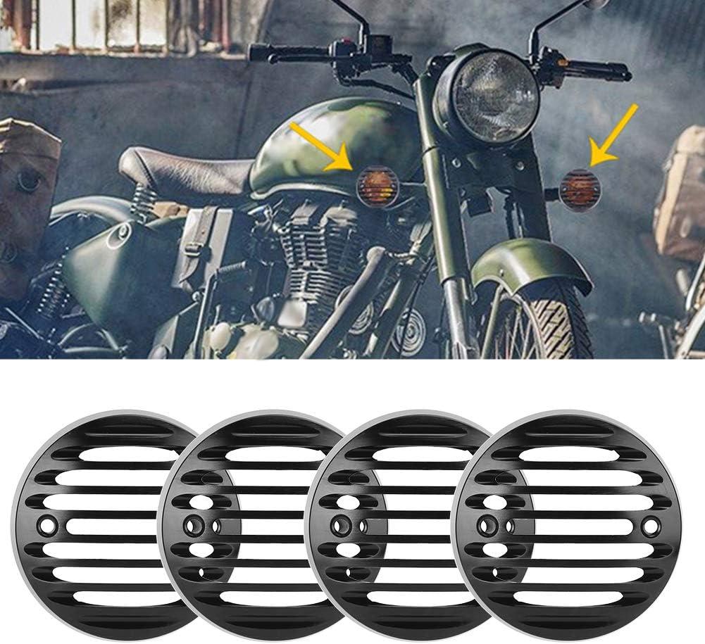 Rejilla de luz de giro 4 piezas Protector de luz de se/ñal de giro Parrilla indicadora retro CNC para Classic 500