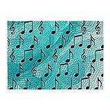 CafePress - Music Notes - Decorative Area Rug, 5'x7' Throw Rug