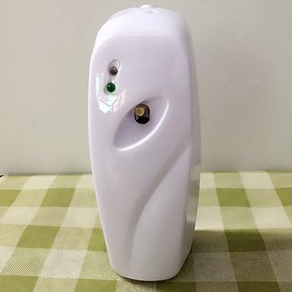 Sensor de luz automático, fragancia pulverizador aerosol dispensador montado en la pared para inodoro automático