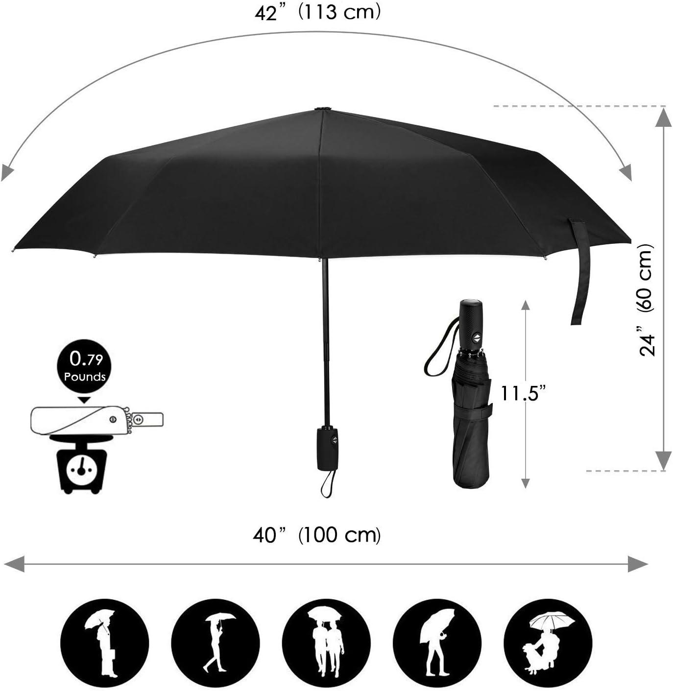 Suicide Silence Sun Protection Umbrella,Waterproof Travel Automatic Tri-fold Umbrellas