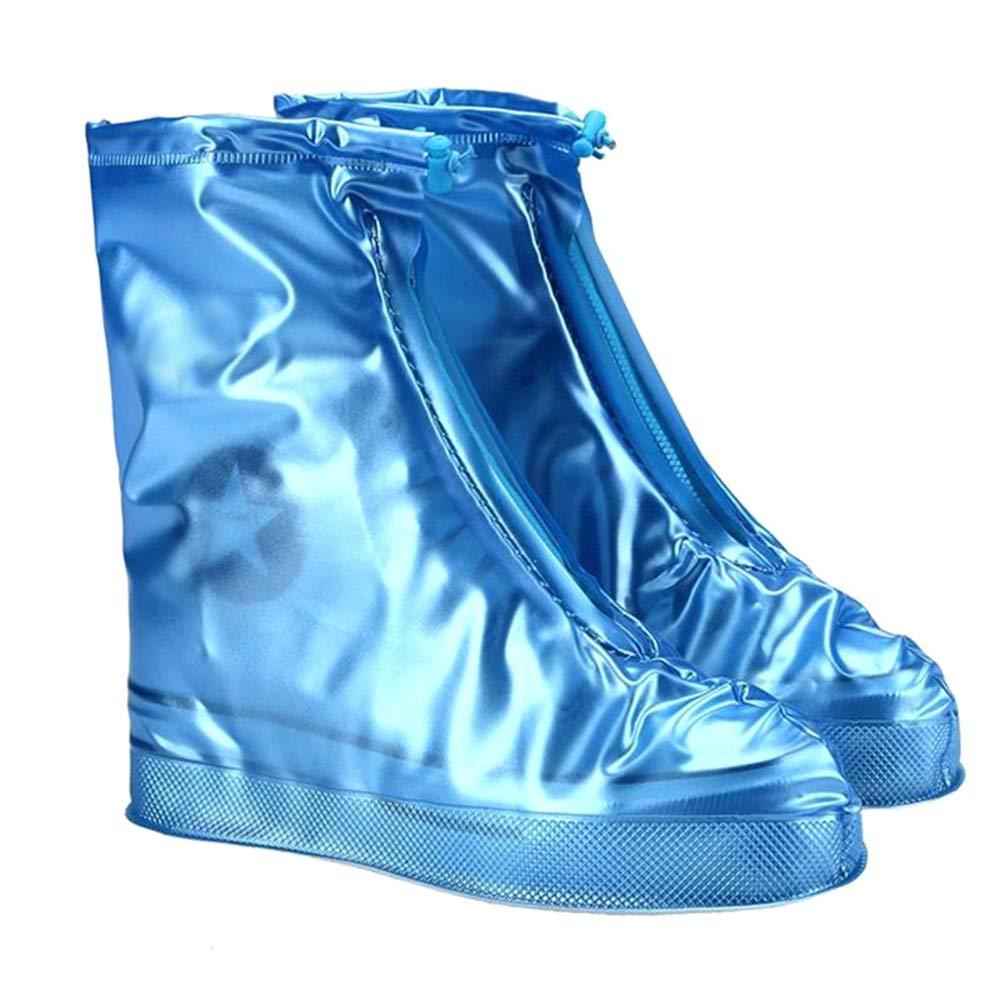 2XL Botas para Camping Viajes PVC Impermeable Hombres etc Tradtrust Funda para Botas de Lluvia Azul Antideslizante Pesca Impermeable para Mujeres