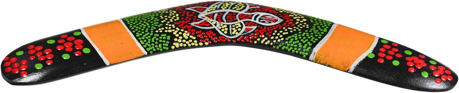 maDDma ® 1 Bumerang Decorativo de Madera, Aprox. 30 cm Dotpaint ...