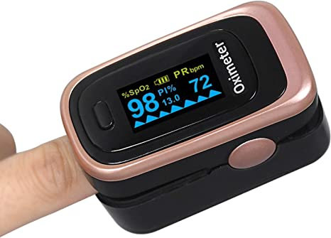 BPM Pulse Rate and Blood Oxygen Fingertip Pulse Oximeter Blood Oxygen Saturation Monitor for Pulse Rate with Lanyard for SpO2
