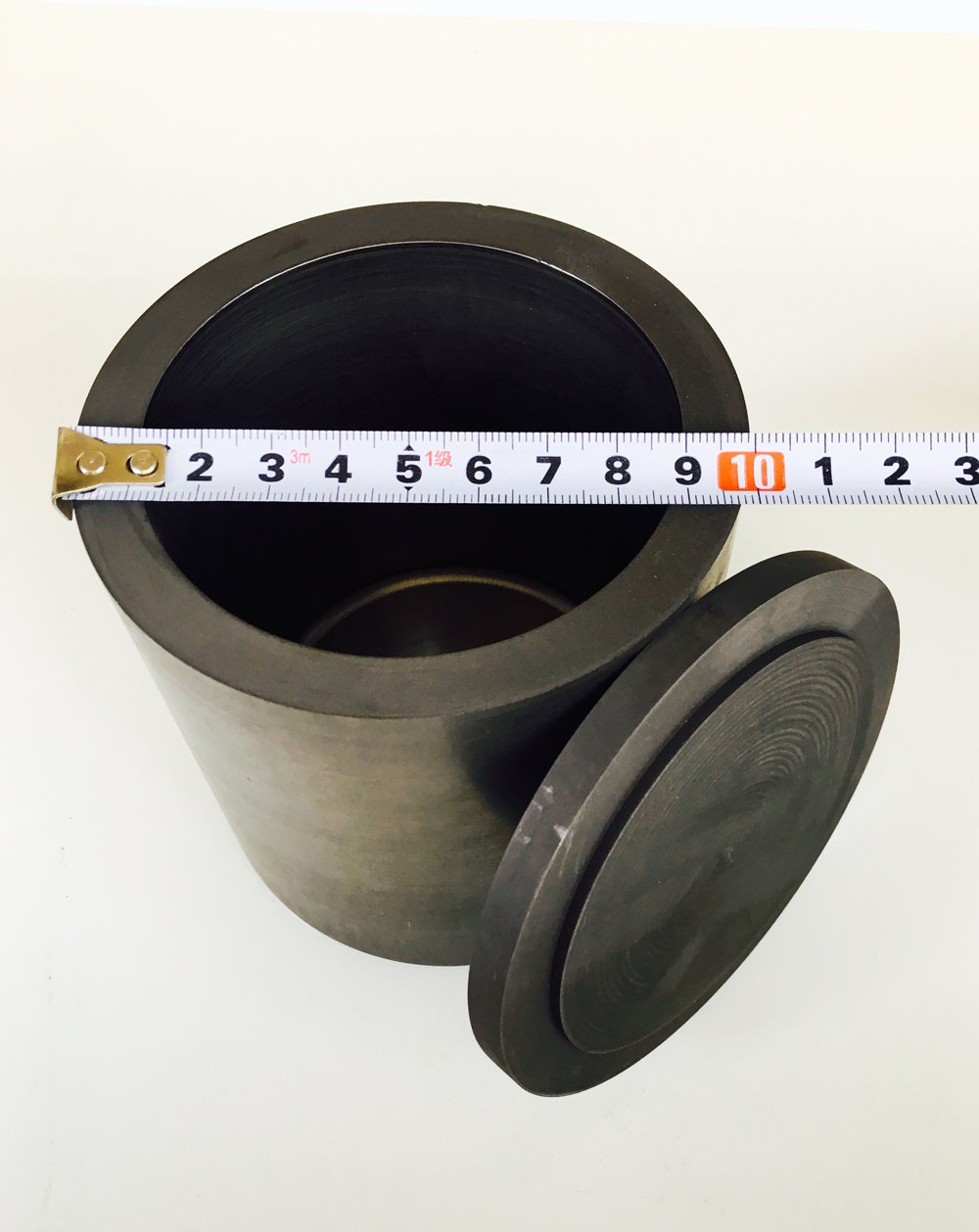 OTOOLWORLD Smelting Lab Graphite Crucible With Cover Lab Supply 100MMx100MM