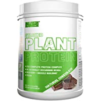 Stacked Plant Protein Powder, All-Natural Chocolate, Vegan, Non-GMO, Gluten-Free, Probiotics, BCAAs, Fiber, Complete Plant-Based Protein Complex (1.5 lb Tub)
