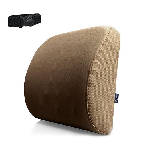 Cojín de soporte lumbar para el dolor de espalda Alivio de la ciática, la cola, el coxis y el dolor de cadera Cojín de respaldo Soporte de asiento de ...