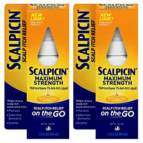 - Scalpicin Scalp Itch Relief, 1.5 fl Oz. Maximum Strength (Pack of 2)