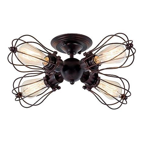 Lámpara de techo industrial de estilo rústico vintage con ...
