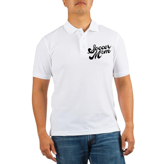 be05cf85d CafePress - Soccer Mom Golf Shirt - Golf Shirt, Pique Knit Golf Polo White