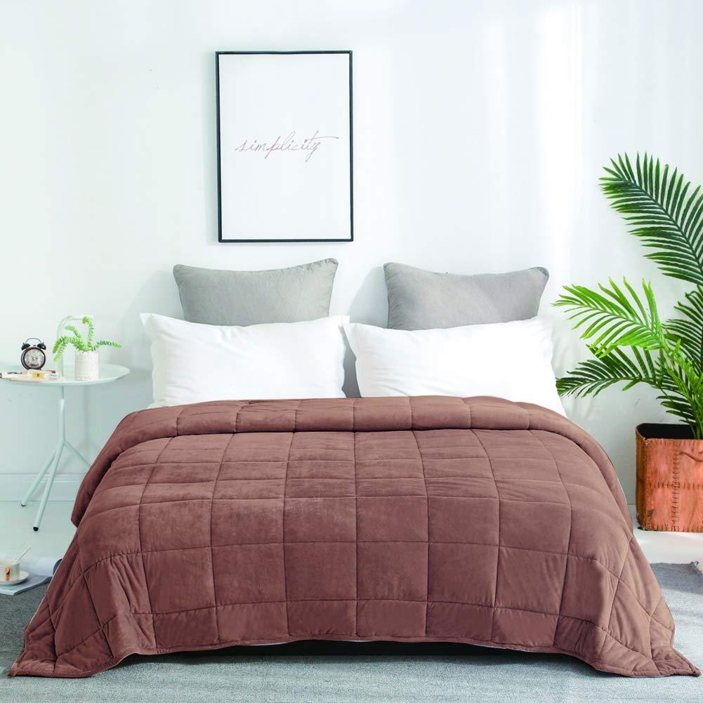 加重ブランケットの 大人 クリスタルベルベット 加重 ガラスビーズ ストレス解消のための毛布 睡眠を改善する 150x200cm,Brown,6.8KG(15lb) B07T5DSZC3 Brown 6.8KG(15lb)