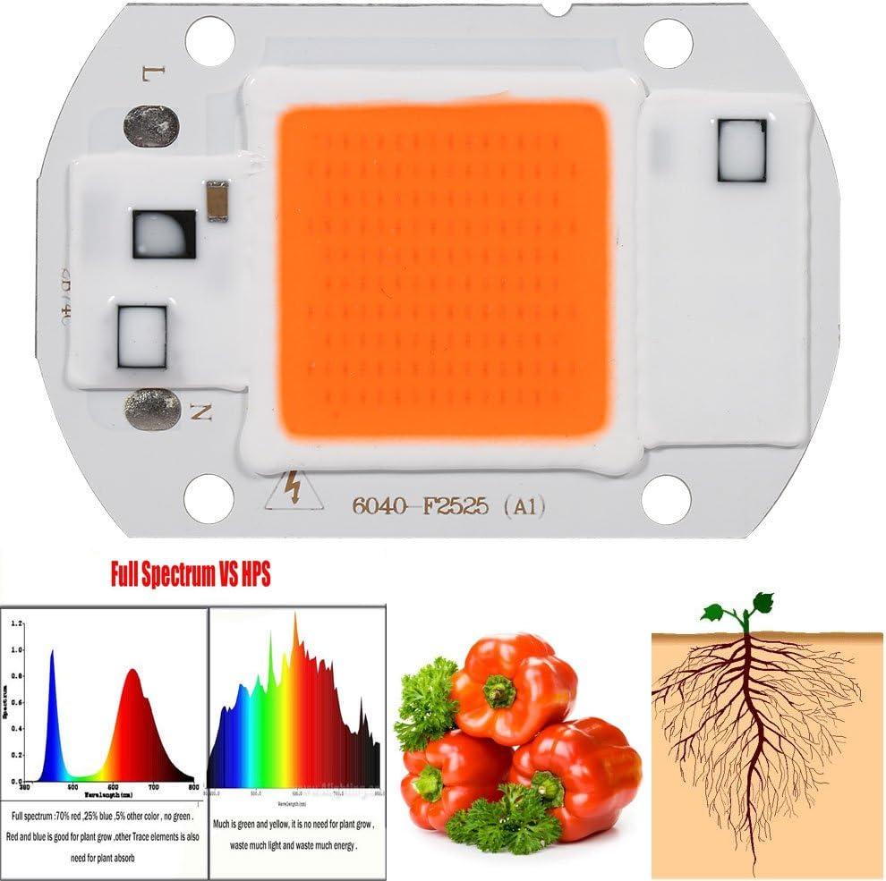 50W 100W Full Spectrum LED COB Chip Grow Light Plant Growing Lamp Bulb 220//110V