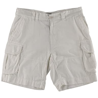 e0e87fb64 Polo Ralph Lauren Men Relaxed Fit Classic Cargo White Shorts Size 30 ...