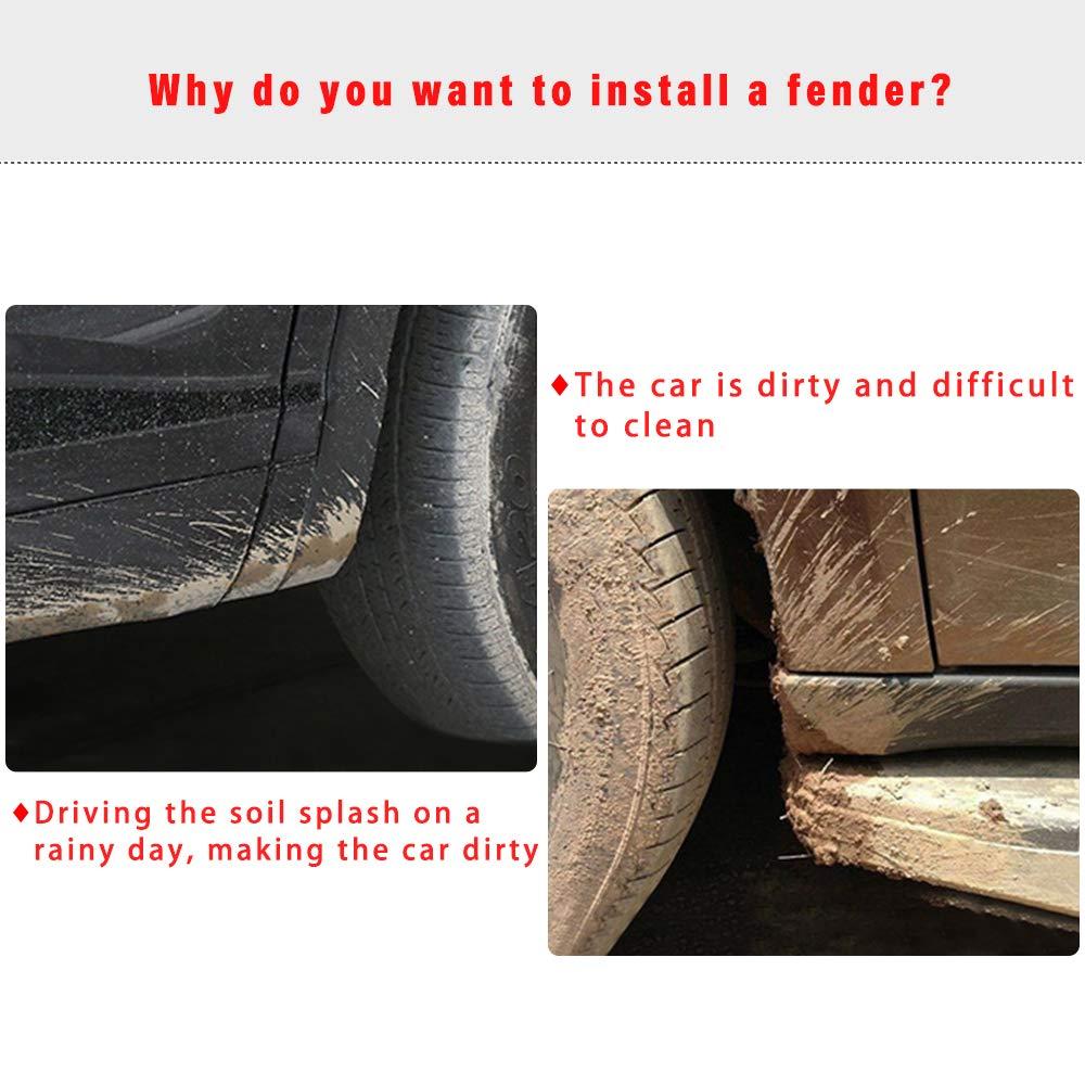 SHUNAN-EU Auto Front Rear Mudguards For Elysee 2013-2017 Splash Fender 4PCS Mud Flap Set