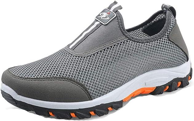 Zapatillas de Running para Hombre Zapatillas de Deporte Ligeras Transpirables y sin Cordones Zapatillas de Deporte Resistentes al Aire Libre: Amazon.es: Zapatos y complementos