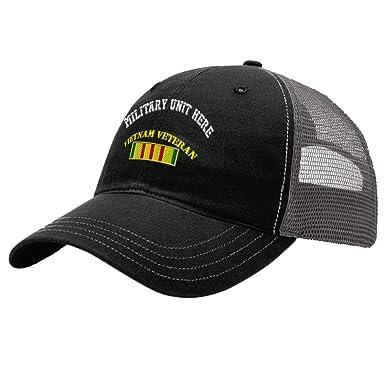 1880aa32d Custom Trucker Hat Richardson Vietnam Veteran Flag Embroidery Unit ...