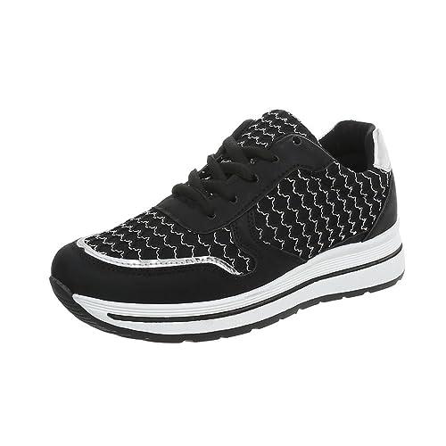 Ital-Design Zapatos para Mujer Zapatillas Plataforma Zapatillas Bajas: Amazon.es: Zapatos y complementos
