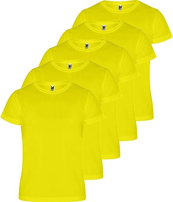ROLY Camiseta Hombre (Pack 5) Deporte | Camiseta Técnica para Fitness o Running | Transpirable