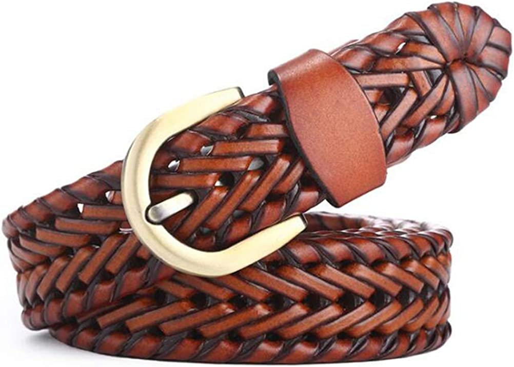110CM Length EmyTock Fashion Mens Womens Braided Belt Leather Strap for Jeans 43 Inch
