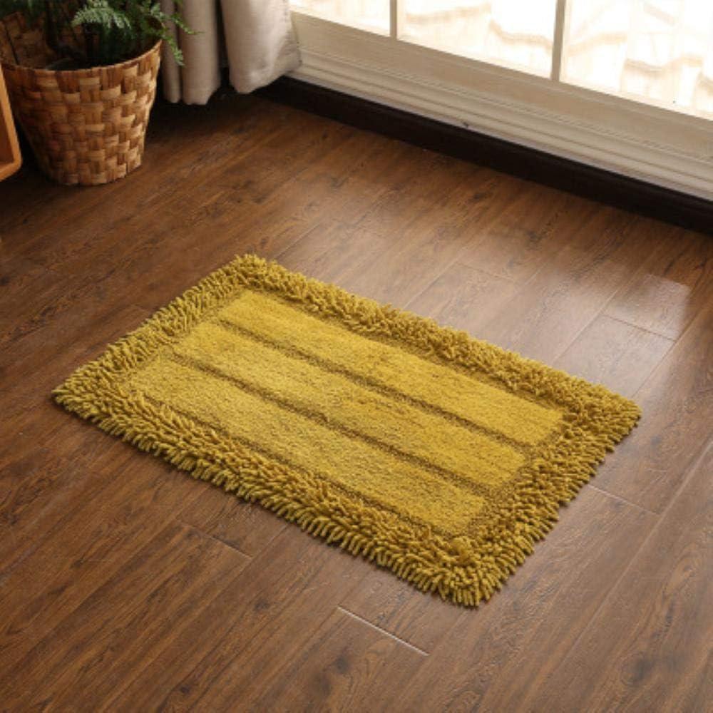 BWYFGRT Nachttisch Teppich Rechteckmatte Nordic Couch Baumwolle Chenille Leinen gewebte Fu/ßmatten k/önnen bearbeitet Werden Wash Kitchen Room Living Room.Burgundy.40X60