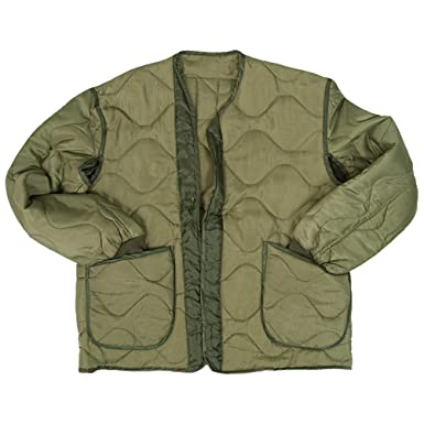 7b37bcd4d59 Mil-Tec M65 Jacket Liner Olive  Amazon.co.uk  Clothing