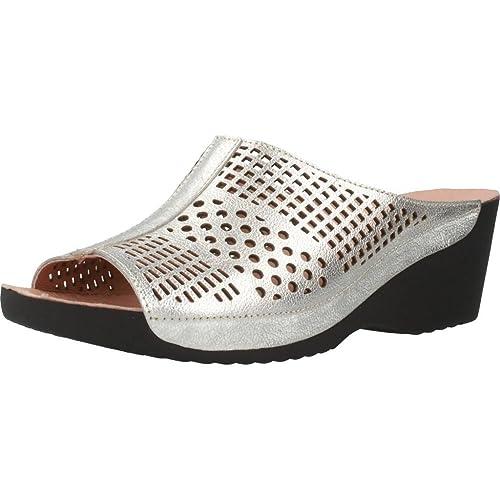 Zapatillas de Estar por casa de Mujer, Color Plateado, Marca NORDIKAS, Modelo Zapatillas De Estar por Casa De Mujer NORDIKAS 3023N Plateado: Amazon.es: ...