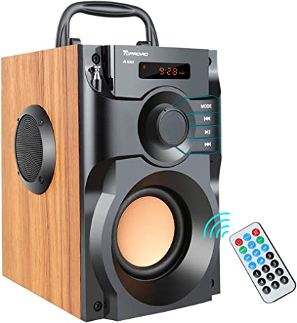 Portable Bluetooth Speaker Wireless Subwoofer Stereo Bass Speakers Outdoor  Powerful Speaker Support Remote Control FM Radio for Home Party, Travel,