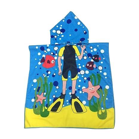 Toalla de baño con capucha para bebés y niños, 100% algodón prémium, para