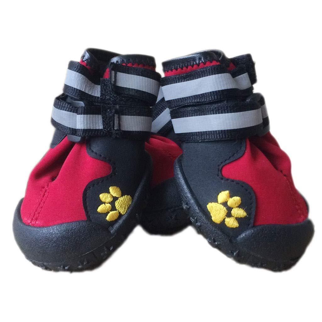 6 Non-Slip Wear-Resistant Big Dog shoes Rain shoes Pet shoes Sandals Dog shoes golden Wool Waterproof shoes (Size   6)