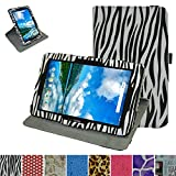 Verizon Ellipsis 10 Rotating Case,Mama Mouth 360 Degree Rotary Stand with Cute Cover for 10.1' Verizon Ellipsis 10 Android Tablet,Zebra Black